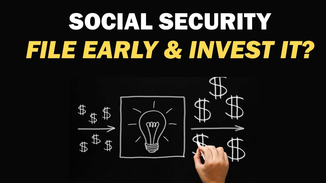 File early, invest the monthly benefit, and you'll be able to generate more income than someone who waited until later to file. Does it make sense to file early and invest the money?