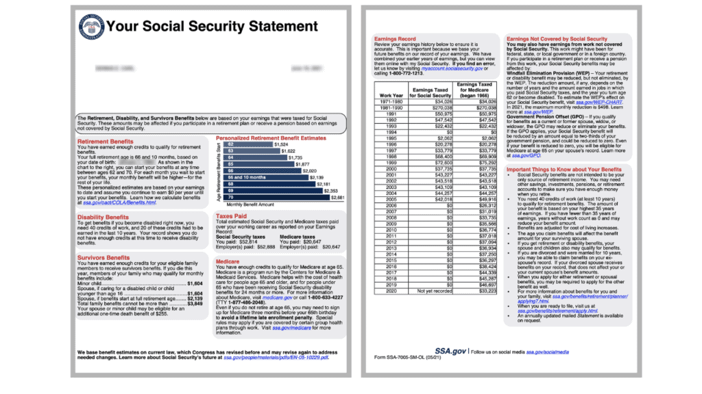 the new social security statement